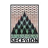 Yoopa Annonce d'exposition Arbres autrichiens sur Une Montagne Conception Graphique Affiche publicitaire Photo Chambre décor -50X70 CM Pas de Cadre 1 pièces