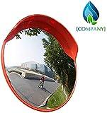MIRROR Tráfico exterior Lente gran angular, Tráfico exterior Calzada Reflector gran angular Tope Seguridad esférica Antirrobo Ps Espejos de plástico Espejos de punto ciego,80cm