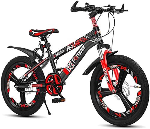 Bicicletas Ciclismo infantiles Bicicleta Para Niños De 18/20 Pulgadas Engranajes De Suspensión Completa Frenos De Disco Doble Bicicleta De Montaña   Con Frenos Sensibles Y Neumáticos Antideslizantes,