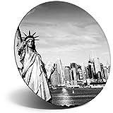 Destination 12199 - Imán de vinilo para nevera, estatua de la libertad de Nueva York para oficina, gabinete y pizarra, pegatinas magnéticas, 12199