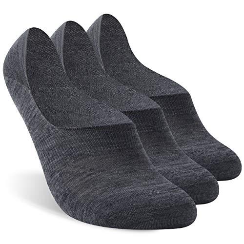 No Show Socks, Zonent Ankle Athletic Socks Unisex Merino Wool Socks Ultra-Light Running Socks Outdoor Sports Socks Hiking Socks Tennis Golf Socks Socks for Women 3 Pairs
