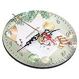FOLOSAFENAR Reloj, Reloj De Pared Movimiento De Cuarzo Silencioso para Festivales