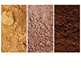 The COLOR1 Collection - Pack of 3 Natural Mineral Pigment Pack (150 ml|5OZ EA): Carpathes Golden Ochre | Rosso Natural| Burnt Umber BOR