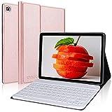 KVAGO Teclado Funda para Samsung Galaxy Tab S6 Lite 10.4 Pulgadas 2020,(Diseño Español Ñ) Teclado con Bluetooth Inalámbrico con Inteligente Funda Case para SM-P610/P615,Oro Rosa