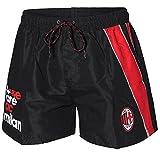 Costume da bagno a boxer con cordina in vita ----- Pantaloncini Mare da adulto , disponibili nella colorazione rossa o nera ----- Marca: Planetex ----- Materiale : 100% poliestere ----- Prodotto Ufficiale ACM Milan -----