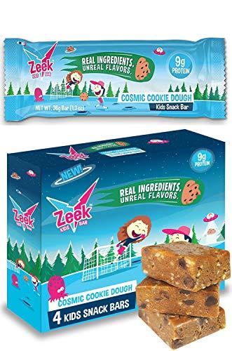 Zeek Kids Protein Bar, 9g of Protein, Healthy Kids Snack, Fits in Lunchbox, Eat in Between Breakfast / Lunch or After Sports, Low Sugar, Gluten Free