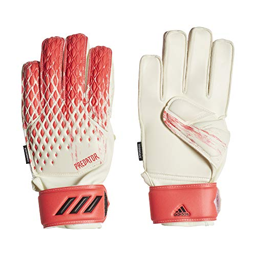 adidas Kinder Predator Match Fsj Handschuhe, White/Pop, 4