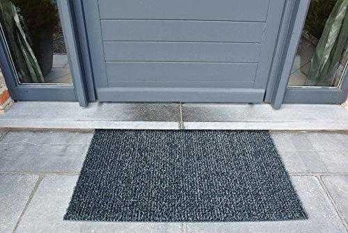 AstroTurf Classic Fußmatte, Fußabstreifer Eingangsmatte für Innen- und Außenbereich, Unvergleichliche Reinigungsleistung, Polyethylen, Schiefergrau, 90x55x2 cm
