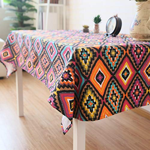 YOUYUANF tablecloth wipe clean round Washable cotton tablecloth wipe clean tablecloth waterproof children's tablecloth rectangular tablecloth130x180cm