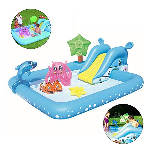 ZY Summer Kids Paddlingpools Finelyty Portable Rectangular Inflatable Children