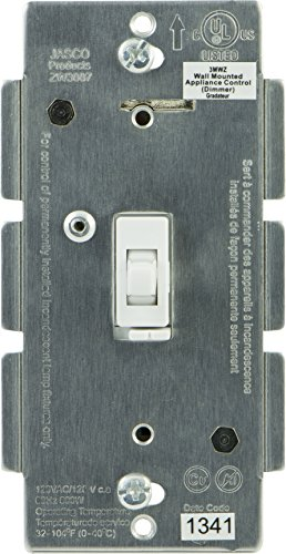 Jasco Z-Wave Dimmer Wall Toggle Switch, No Neutral Required, White (45716)