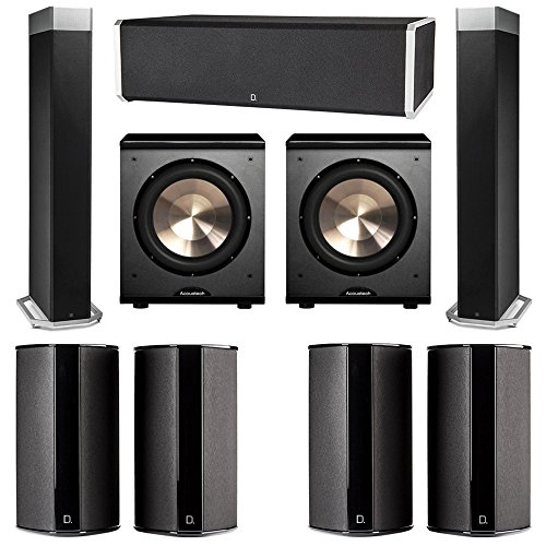 Read About Definitive Technology 7.2 System with 2 BP9080X Tower Speakers, 1 CS9060 Center Channel S...