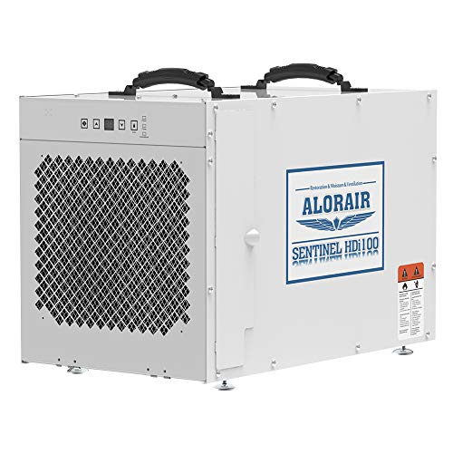 AlorAir Sentinel HDi100 Whole Home Dehumidifier, 100 Pints at AHAM, up to 2,900 sq. ft. Basement Dehumidifier with a Pump, Crawl Space Dehumidifying