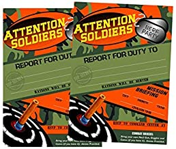 Dart Tag Themed Party Supplies Large 5x7in Size Set of 12 (Invitations)