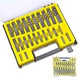 Gobesty Juego de brocas, 150 piezas Brocas Hss Mini juego de brocas helicoidales, brocas micro de 0.4mm-3.2mm adecuadas para bricolaje de metal y madera, con caja de almacenamiento