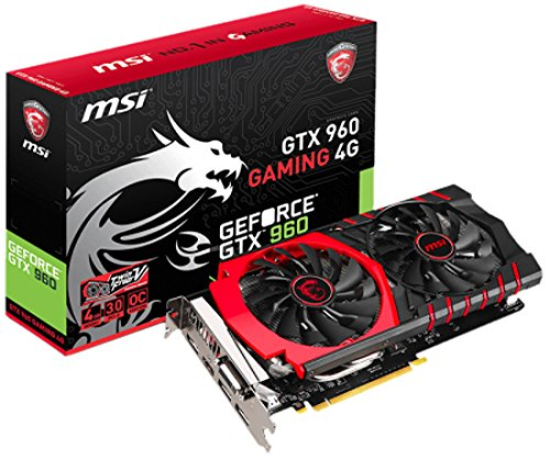 MSI GeForce GTX  960 Gaming 4G - Tarjeta gráfica GeForce GTX  960 Gaming 4G (ATX, HDMI, DL-DVI-I, GDDR5, 256 M x 16 bit)