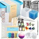 Dellabella Kit de fabricación de velas – Juego de cera y accesorios DIY para la fabricación de...