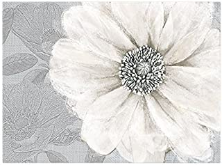 Graham & Brown Harrogate Grey Bloom Wall Art, 23 by 31-Inch