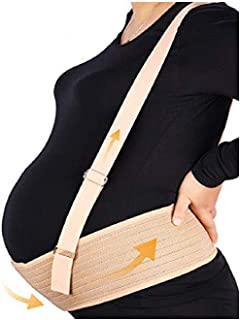 Aigori Maternity Support Belt with Shoulder Straps ,Pelvic and Back Support Belt for Pregnancy, Lowerback/Waist/Abdom Breathable Prenatal Cradle