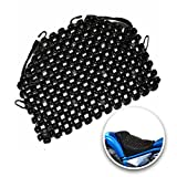 VaygWay Wood Beaded Seat Cushion – Wooden Beaded Motorcycle Seat Cover - Black Wood Double Strung Beads – Massage Comfort Cover Car Seat – Universal SUV Auto Office Home Motorcycle
