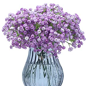 Anna Homey Decor 8.4 inch Baby Breath Flowers Artificial Baby's Breath Flower Real Touch Fake Silk Green Gypsophila Plants Bouquets for Wedding Home Kitchen DIY Decoration