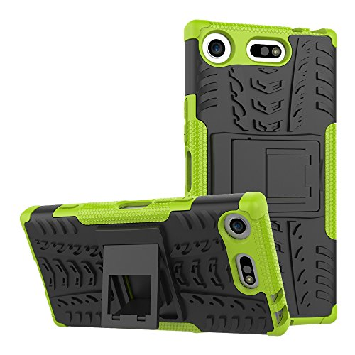 Sony Xperia XZ1 Compact Custodia Cover Case, FoneExpert® Resistente alle cadute Armatura dell'impatto Robusta Custodia Kickstand Shockproof Protective Case Cover Per Sony Xperia XZ1 Compact