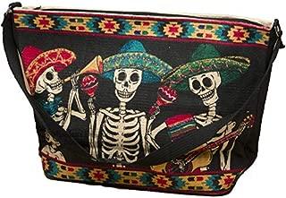 Southwestern Day Of The Dead Shoulder Bag for Coco Style Dia De Los Muertos Purse, Handbag or Travel.