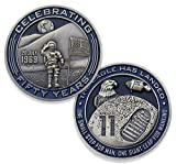 Apollo 11 NASA Challenge Coin - The Eagle Has Landed Collectible Coin - Limited Fifty Years Man On The Moon National Aeronautics & Space Administration Coins - Veteran Owned Company!