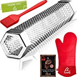 LIZZQ Premium Pellet Smoker Tube 12 inches - 5 Hours of Billowing Smoke - for Any Grill or Smoker, Hot or Cold Smoking - Stainless Steel 304 - Silicone Oven Mitt - Silicone Basting Brush - Free eBook Grilling Ideas and Recipes