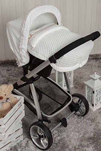 Babyline Sweet - Saco porta bebé, grupo 0, color blanco
