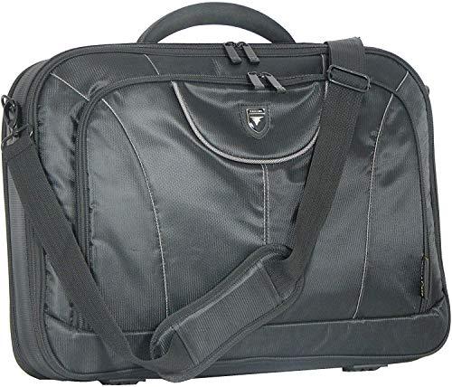 17' Large Laptop Business Briefcase Bag for Business/School/College/Unisex - Black/Grey - FI2545