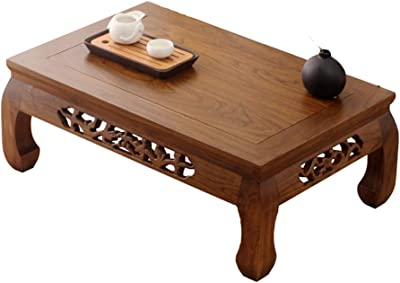 Coffee Tables Coffee Table Antique Old Elm Table Tatami Coffee Table Bay Window Table Balcony Tea Ceremony Small Table Modern Minimalist Living Room Coffee Tables ( Color : Brown , Size : 62*42*25cm )