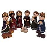 Belén de Navidad Nacimiento de 9 Figuras de Resina de 14 cm - LOLAhome