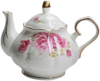 Jomop Pottery Teapot Cool Gift For Tea Lovers Handmade Ceramic Teapot (Pink)