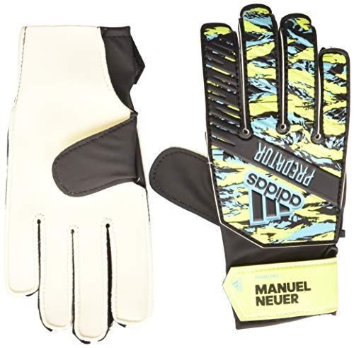 adidas Unisex Kinder PRED YP MN Fußballhandschuhe, Mehrfarbig (solar yellow/Bright cyan/Black), 5.5