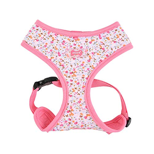 Puppia Wildflower Harness A - Pink - S