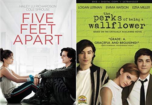 Grade A Teenage Stories Of Friendship Love + Heartbreak - The Perks Of Being A Wallflower + Five Feet Apart 2 DVD Bundle