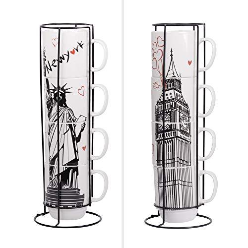 Tour de 4 Mugs 40 cl London/NY (1 modèle aléatoire)