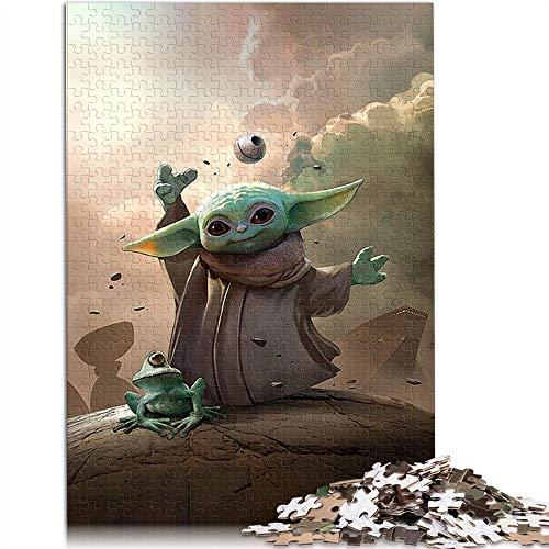 1000 Puzzlespielzeuge für Erwachsene und Kinder Yoda: Star Wars 1000 Stück Puzzle Movie Characters Brain Challenge Puzzlespiel Spielzeug (75x50cm)