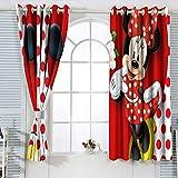 Cortinas de eficiencia energética Mic-key Min-nie Mouse Cortinas para dormitorio de niña impermeable cortina de ventana de 84 x 84 pulgadas
