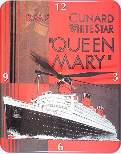 Cunard witte ster schip plaat muur klok stabiel 26 x 20 CM U548
