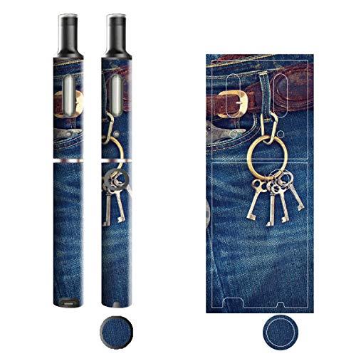 電子たばこ タバコ 煙草 喫煙具 専用スキンシール 対応機種 プルームテックプラスシール Ploom Tech Plus シール Jeans デニム モチーフコレクション 11 キーホルダー 21-pt08-2239