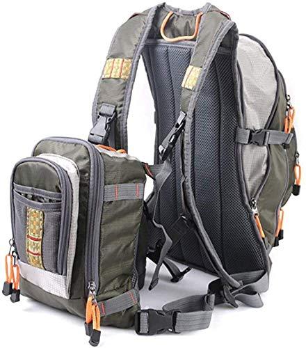Safety vests LQ Multi Bolsillos Chaleco de Pesca, Pesca con Mosca Chaleco Ajustable de Verano de Malla Gilet (Color : Green, Size : One Size)