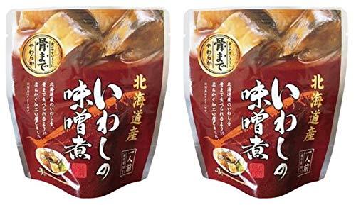 無添加 いわしの味噌煮 95g(固形量70g)×2個 ★ コンパクト ★ 北海道産天然いわし使用・素材の風味を活かした味噌仕立て・食べやすいように骨まで柔らか