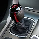 LT Sport 5-Speed Manual Transmission Stick Shift Knob PVC Leather Black Gear Lever Cover