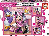 Educa - Minnie Ayudantes Felices Conjunto de Puzzles Progresivos, Multicolor (17630)