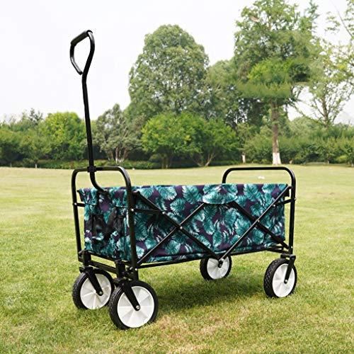 Ziziqw Al Aire Libre Carro De Herramientas Agrícolas,Multifuncional Carrito Plegable, Plegable Carro De Compras,70 Kg De Capacidad Apto para Acampar Al Aire Libre
