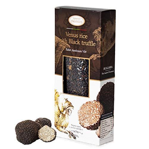 Black Venus Gourmet Rice Zwarte rijst met zwarte truffel Tuber Aestivum Black truffle Rijk aan antioxidanten, vezels, vitamine E, gezonde lichaamsbeheersing, 250 g