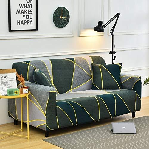 PPMP Sala de Estar Cubierta de sofá elástica con Todo Incluido Cubierta de sofá de celosía elástica Funda de sofá de sofá Inferior A27 2 plazas