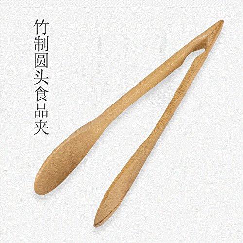 Xing Lin Pinces À Pizza Baker'S Kitchen Clip Alimentaire Bambou Barbecue Grillades Salade De Légumes Woodwood Clip Naturel Blanc Laiteux,Pelle
